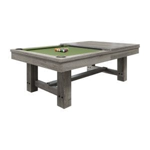 Reno Dining Pool Table in Silver Mist
