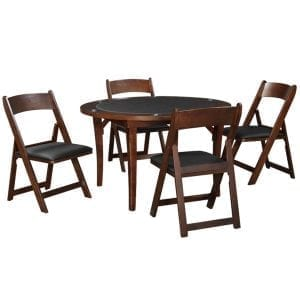 Folding Poker Table with Chairs